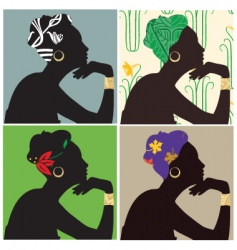 woman in headscarf vector image