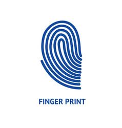 Finger print card vector