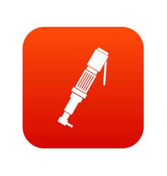 Pneumatic screwdriver icon digital red vector