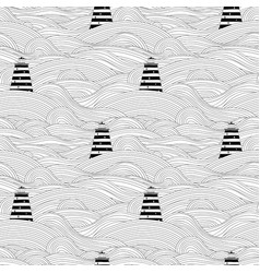 seamless unusual pattern with waves and vector image