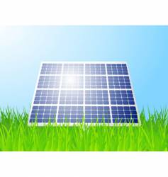 solar panel landscape vector image vector image