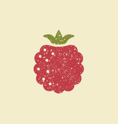 stylized flat icon of a raspberry vector image vector image