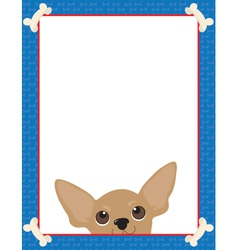 chihuahua frame vector image vector image