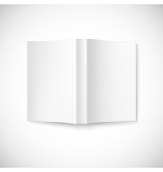 Open blank book cover top view vector image