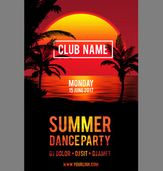party flyer design club music flyer vector image