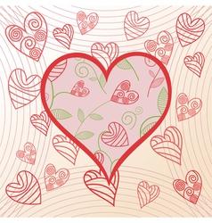 Romantick background hearts vector image vector image