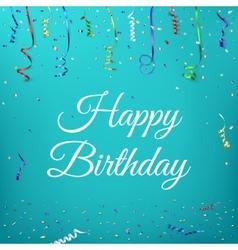 Happy birthday celebration background vector image vector image