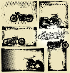 motorbike grunge banners vector image vector image