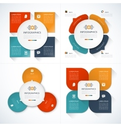Set of modern minimal infographic design templates vector image