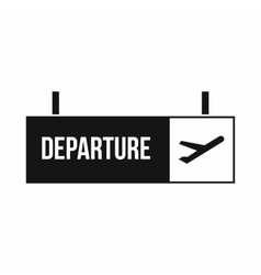 Airport departure sign icon simple style vector