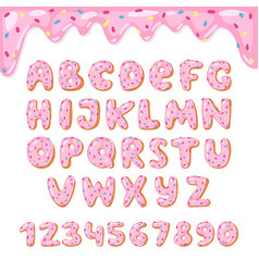 Alphabet donut kids alphabetical doughnuts vector