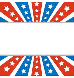 American abstract flag rays frame border vector