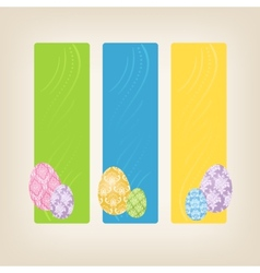 Banners with Easter Eggs vector image