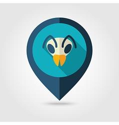 Bee flat pin map icon Animal head symbol vector image