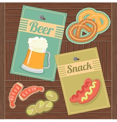 Beer and Snack vector