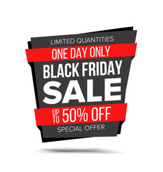 black friday sale banner website sticker vector image