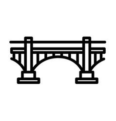 Bridge outline icon vector