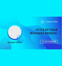 business conference template abstract blue vector image