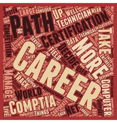 Career Paths For Comptia A Certified Technician vector