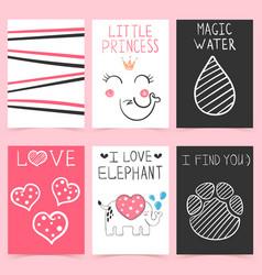 cartoon elephant - set design template vector image