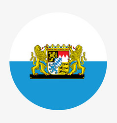 circle bavarian flag with coat arms great coat vector image