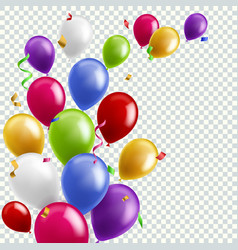 Color balloon background flying colorful balloons vector