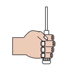 computer screwdriver tool vector image