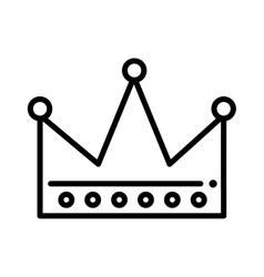 crown king drawn icon vector image