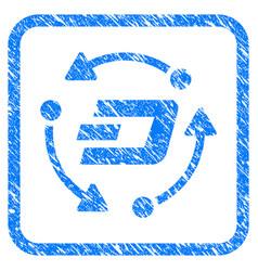 Dash turnover framed stamp vector