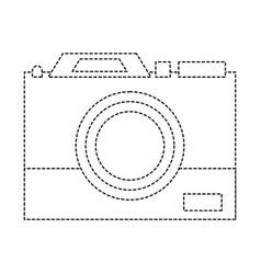 Dotted shape digital camera technology equipment vector