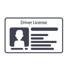 Driver id card license with photo identification vector