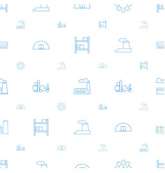 factory icons pattern seamless white background vector image