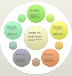 Five piece business infographics template vector image