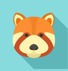 fox head icon flat style vector image