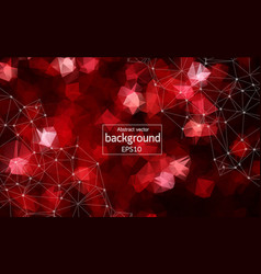geometric red polygonal background molecule and vector image