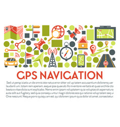 gps navigation banner maps location and vector image