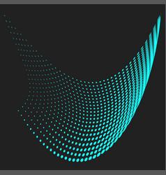 halftone blue wave vector image