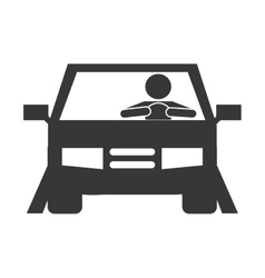 human driver car icon vector image