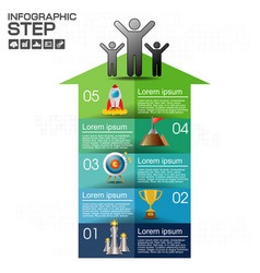 infographic with business icons 8 circles steps vector image