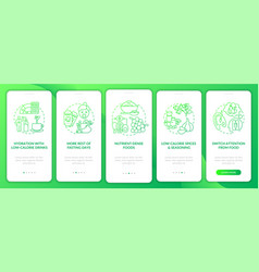 Intermittent fasting green gradient tips vector
