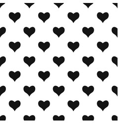 Kind heart pattern seamless vector