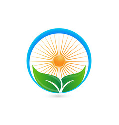 leafs of life health and medicine icon vector image