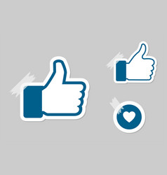 Like icon thumb up and hart vector