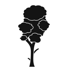 Linden icon simple style vector