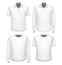 Men short and long sleeve clothes vector