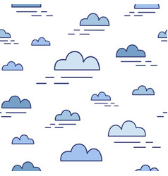 Modern seamless pattern with clouds of different vector
