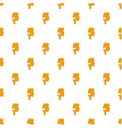 Number 5 from honey pattern vector