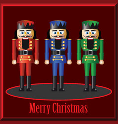 Nutcrackers on red background vector