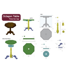 octagon table vector image