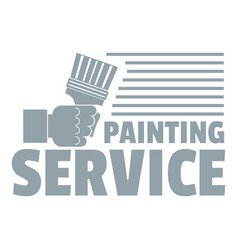 Painting service logo vintage style vector